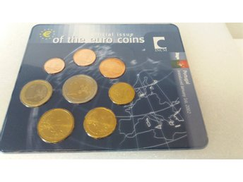 First official issue of the euro coins Portugal 2002
