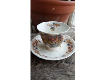 Engelsk samlarkopp och fat  Royal Doulton Brambly Hedge Autumn