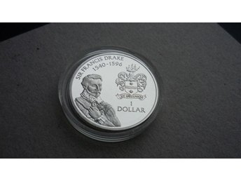 Cayman Islands Dollar, 1994 Sir Francis Drake - Proof silver