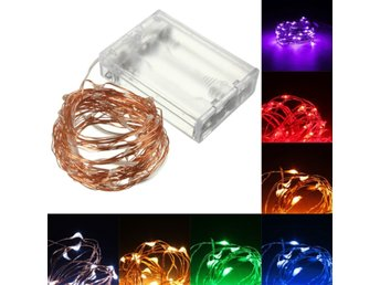 10M 100 LED Copper Wire Fairy String Light Battery Powere...