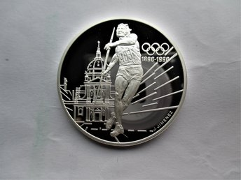 France, 100 francs, 1994 Javelin Thrower. 33,63 gr.  KM#1048