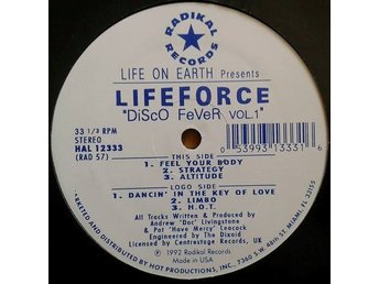 Life On Earth Presents Lifeforce title*  Disco Fever Vol. 1* House, DiscoHouse12