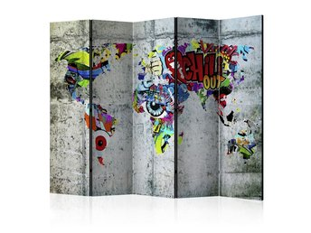 Rumsavdelare - Graffiti World Room Dividers 225x172