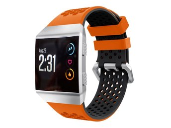 Fitbit Ionic two-tone silicone watch strap- Orange + Black