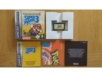 GBA/Game Boy Advance: Super Mario Bros 3 (svensksålt/nyskick)