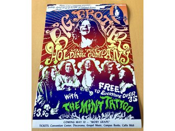 JANIS JOPLIN SELLAND ARENA 1968 PHOTO POSTER