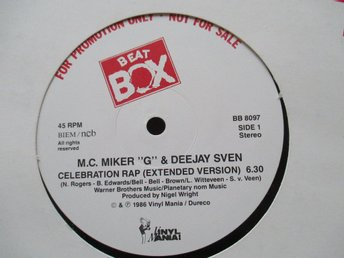 "Beat Box promo 12"" maxi: MC MIKER G - CELEBRATION RAP"