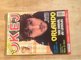Okej Nr 11 2003 med posters. Orlando Bloom, Bosson, Westlife, Blue Mycket fin!
