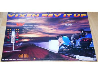 VIXEN - REV IT UP, STOR TIDNINGSANNONS 1990