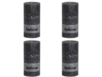 Bolsius Blockljus 4-pack 200x100 mm mörkgrå