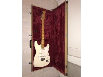 Fender am standard, Jimi pearl white, US 1990