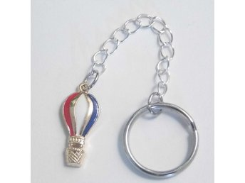 Luftballong nyckelring / Hot air balloon keyring