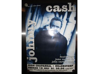 Affisch, JOHNNY CASH live at High Chaparral, Sverige 1997. 50 x 70cm