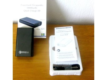 POWERBANK 10000mAh  Quick Charge 3.0   /  Kostar ca 375 kr på nätet Utrop 145 kr
