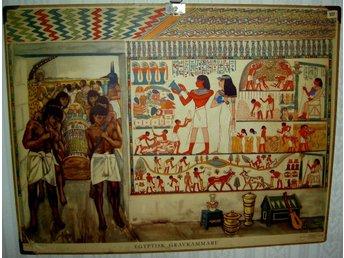 Javascript är inaktiverat. - Gällivare - Egyptisk gravkammare Olle Hagdahl 96x74 cm 1949 Fler planscher finns, skicka fråga om motiv! - Gällivare