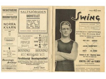 SWING Illustrerad Sport- & Filmjournal 1920 Nr 1 Årgång 1