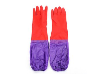 A Pair Wash Cleaning Long Sleeves Rubber Latex Cashmere G...