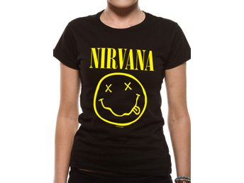 NIRVANA - SMILEY (FITTED)  T-Shirt - XX-Large