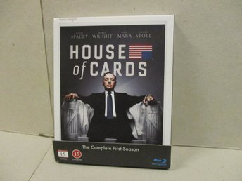 HOUSE OF CARDS (Blu-ray) - SÄSONG 1, (4 DISK) - FINT SKICK! - Stockholm - HOUSE OF CARDS (Blu-ray) - SÄSONG 1, (4 DISK) - FINT SKICK! - Stockholm