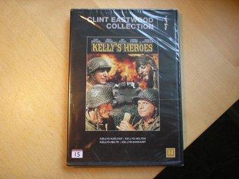 Kellys Heroes med Clint Eastwood - Ny DVD - Broby - Här har du en NY DVD - Kellys Heroes med Clint Eastwood Inplastad. Skickar mina varor med posten och följer postens portotabell. Tar en liten kostnad då jag packar i nytt packningsmaterial. Totalpriset för frakten är den som gäller. Vinnarma - Broby