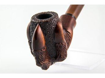 Handcarved pear smoking pipe *Claw* cooling+9mm -18cm | pipa