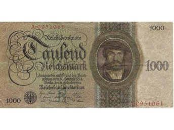 GERMANY: P 179 REICHSBANKNOTE 1924 ISSUE 1000 REICHSMARK