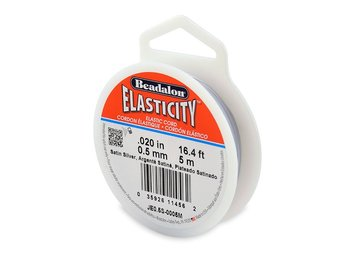 Elasticity, 0.5mm, Satin Silver