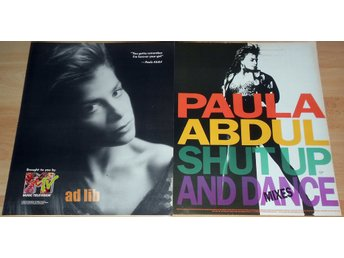 PAULA ABDUL - MTV, SHUT UP AND DANCE, 2 TIDNINGSANNONSER 1990