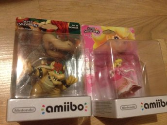 Princess Peach + Bowser Amiibos