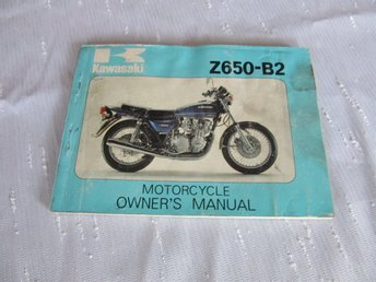Kawasaki Z650 B2 1977-78 Owners manual