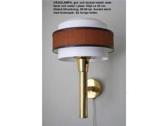 Vägglampor Jugend : Lampetter teak och metall tal på tradera antika