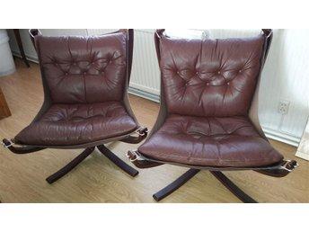 "Fåtöljer, 2 st ""Falcon Chair"", Sigurd Resell, Vatne Möbler, Norge - Vinberg - Fåtöljer, 2 st ""Falcon Chair"", Sigurd Resell, Vatne Möbler, Norge - Vinberg"