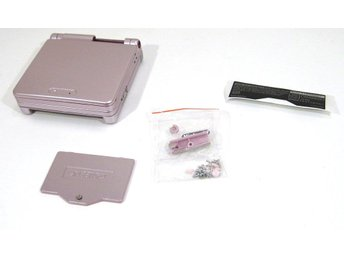 GBA SP nytt skal - metallisk rosa - Game Boy Advance