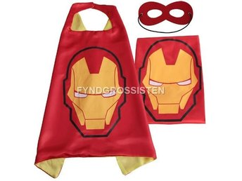 Mantel + Mask Iron Man Fri Frakt Helt Ny