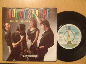 Rocky Sharpe & Replays Clap Your Hands UK 45  rock & roll rockabilly