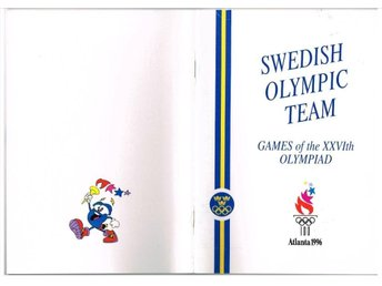 SWEDISH OLYMPIC TEAM ATLANTA 1996 Games of the XXVIth Olymp.