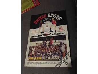 FOTBOLL Program Manchester United FC v West Bromwich Albion FC 12/4 1982