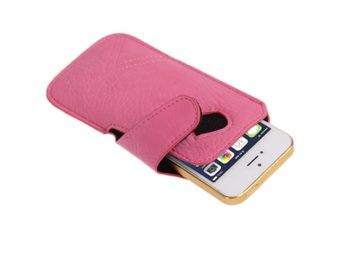 iPhone 5/5S Fickfodral Rosa