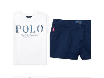 RALPH LAUREN POLO SET AV 2. (TJEJ) T-Shirt (L) + Shorts (16), Helt Nya!