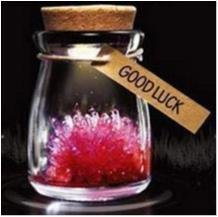 "NY!Magical Gift DIY Lucky Growing Grow Crystal""Good Lucy""Röd"