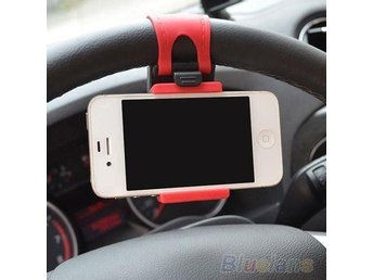 Car Steering Wheel Mount Rubber Band Cellphone Holder Smart Phone Support Stand