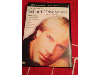 The verry best of Richard Clayderman  .live in consert! Musikdvd, i fint skick.