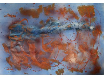 Abstrakt hand-made acrylic painting, on paper- 72 x 52 cm