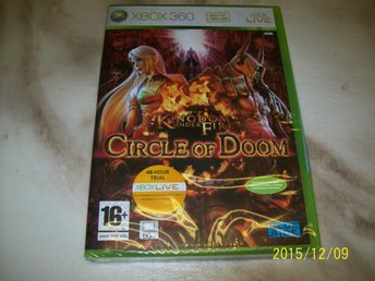 KINGDOM UNDER FIRE CIRCLE OF DOOM - NYTT INPLASTAD (X-360)