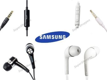 2 st SAM ORIG in ear Stereo Headset för Galaxy S4 S5 S6 S6 Edge Gio Note Y etc