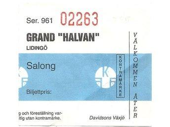 """Biobiljett: Grand """"Halvan"""" Lidingö (Innan SF tog över) - Järfälla - Biobiljett: Grand """"Halvan"""" Lidingö (Innan SF tog över) - Järfälla"""