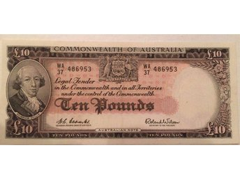 AUSTRALIA: P 36a RESERVE BANK 1960-61 ND ISSUE 10 POUNDS