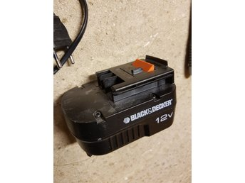 Black & Decker batteri 12V 1,0Ah
