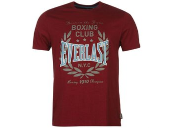 EVERLAST BOXING T-SHIRT  BURGUNDY RED    XL