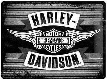 Harley Davidson Plåtskylt Svart/Vit - Växjö - Harley Davidson Plåtskylt Svart/Vit - Växjö
